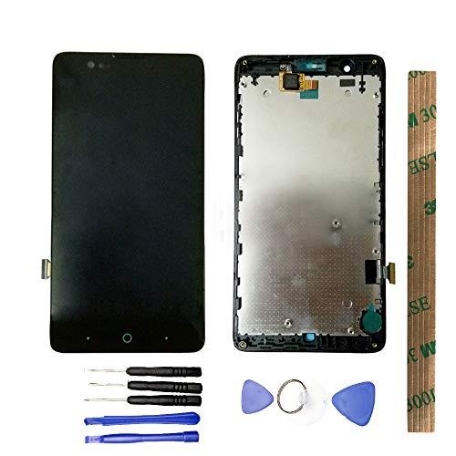 JayTong - visualización LCD y digitalizador de visualización táctil de Repuesto para ZTE Blade HN V993W L3 Plus Negro con Marco