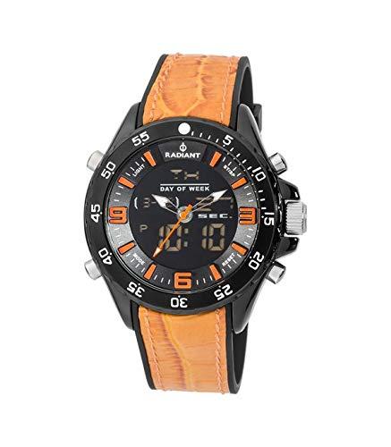 RADIANT Reloj Analógico-Digital para Hombre de Cuarzo con Correa en Piel RA346603