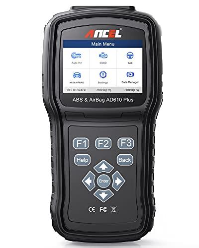 ANCEL AD610 PLUS OBD2 스캐너 SAS SRS(AIRBAG) 코드 리더 자동 OBD II ABS 검사 엔진 카 스캐너용 진단 스캔 도구 재설정