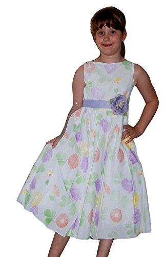 Helgas Modewelt Blumenmädchen Kleid, Baumwollkleid, Blumenkinderkleid, Größe 116/122