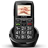 artfone C1 Plus - Telefono cellulare per anziani, senza contratto, grandi tasti, per seniori con Dual SIM, batteria da 1400 mAh, lunga durata in standby, 2 G GSM con stazione di ricarica da tavolo