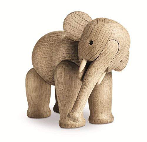 Kay Bojesen Elefant Mini aus Holz, kleine Holzfiguren Deko, Elefanten Tier Deko Figur, Holzfiguren Deko, Eiche, klein