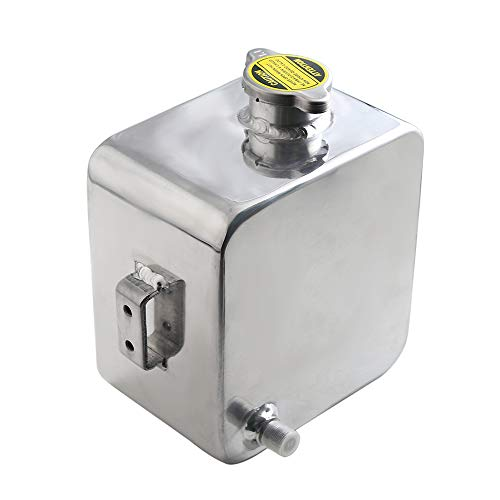 Depósito de rebose de refrigerante de Aluminio Universal de 2L Depósito de recuperación de Botellas Contenedor para Mantenimiento de reparación de automóviles