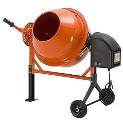 commercial Electric Concrete Mixer SUNCOO 1/2 HP 2.5 Cu Ft Mortar Plaster A portable wheelbarrow for mixing mixes … concrete mixer