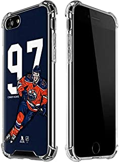 Skinit Clear Phone Case for iPhone 7 - Officially Licensed NHL Players Connor McDavid #97 Action Sketch Design