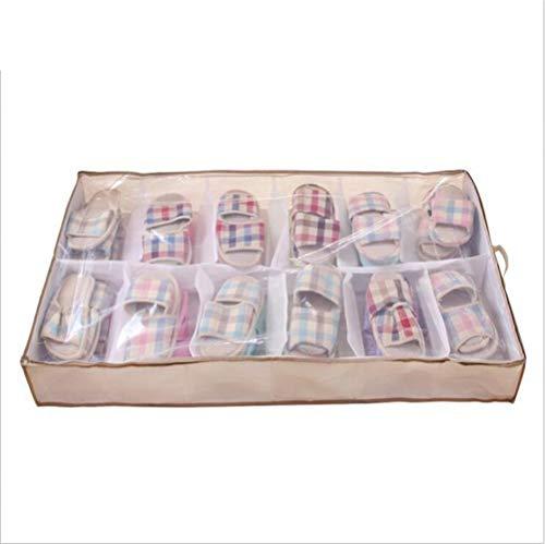 YCRD Shoe Bag Organizer, 12-Mesh Cotton Shoe Storage Bag, Staubdichte Tasche Shoe Bag Bundle Pocket,...