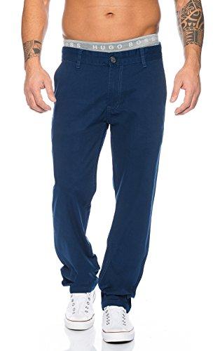 Rock Creek Herren Designer Chino Stoff Hose Chinohose Regular Fit Herrenhose Elegante Hosen Stoffhose Jeans Pants Chinohose RC-2083 Navy W36 L32