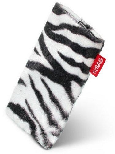fitBAG Bonga Zebra Handytasche Tasche aus Fellimitat mit Microfaserinnenfutter für Sony Ericsson K660 K660i