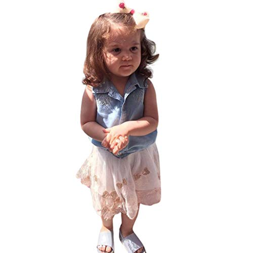 MRULIC Baby Mädchen Outfits Kleidung Bowknot Weste Tops + Plaid Shorts Hosen Sets Anzug 1-6 Jahre(X3-Rosa,80)