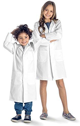 Dr. James Blouse Blanche pour Enfant avec Boutons-Pression de Sécurité (8-10 Ans)