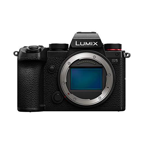 Panasonic LUMIX S5 Full Frame Mirrorless Camera, 4K 60P Video Recording with Flip Screen & WiFi, L-Mount, 5-Axis Dual I.S, DC-S5BODY (Black)