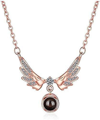 Yiffshunl Collar 2021, alas de ángel, Fascinante Collar con Colgante para Mujer, Regalo de joyería