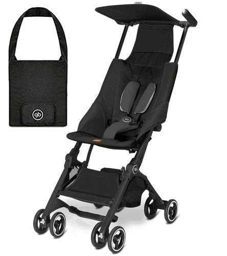 gb Pockit Lightweight Stroller, Monument Black   Includes Travel Bag That Fits Your Stroller While on The go