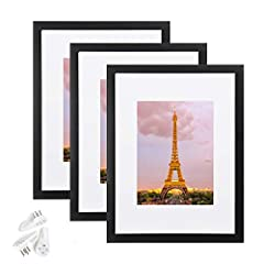 MULTIPLE FRAMES & STURDY MATERIAL: Set of 3 pieces in the same sizes for neat and uniform wall decoration. Lightweight but well made, come with high definition glass, better protection from scratches. SIZE: One wall black photo frame fits 9x12 frame ...