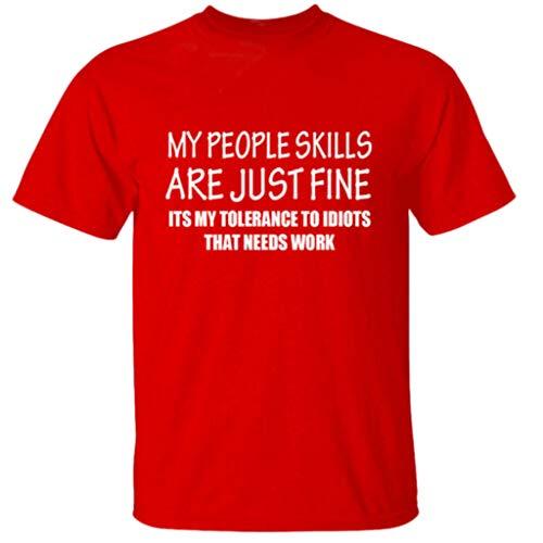 TAMALLU Herren T-Shirt Mode Lässig Männer Kurzarm Tee Komfort Gedruckt Tops Bluse(Rot,S(S))