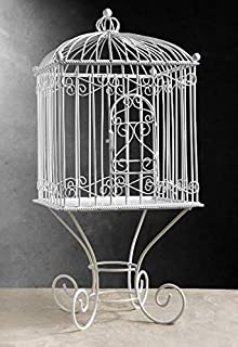 Richland Large Metal Vintage Bird Cage on Stand 21