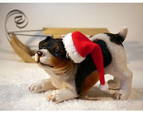 Malen Nach Zahlen Diy Porträt Tierlandschaft Ölfarbe Bild Zeichnung Leinwand Familie Kinder 40X50C Hund In Weihnachtsmütze