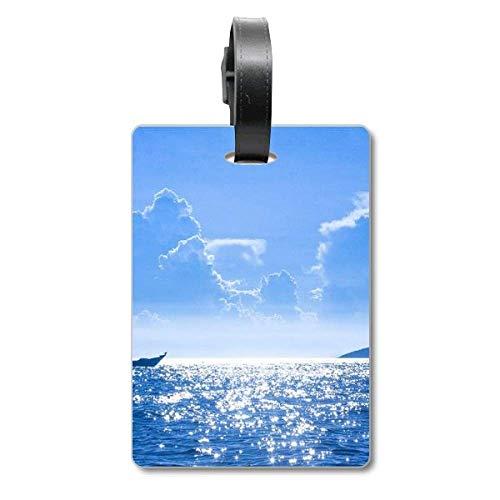 Ocean Water Zee Boot Wetenschap Natuurbeeld Cruise koffer Tas Tag Tourister Identificatie Label