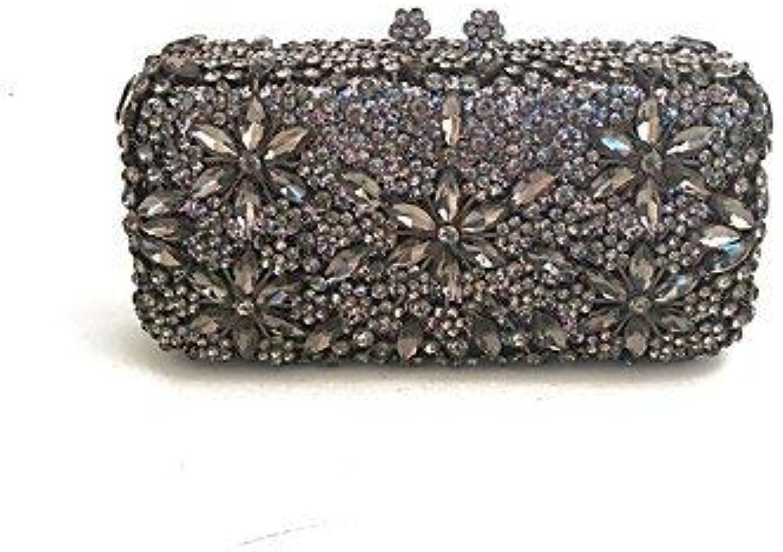 Ladies Handbag Women Bags Metal Satin Evening Bag Crystal Detailing for Wedding Event Party All Season