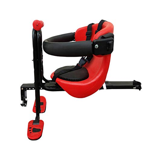 Child Bike Seat Front mount Child Bike Seat for Toddlers Foldable Ultralight Baby Kids' Bicycle Carrier Handrail