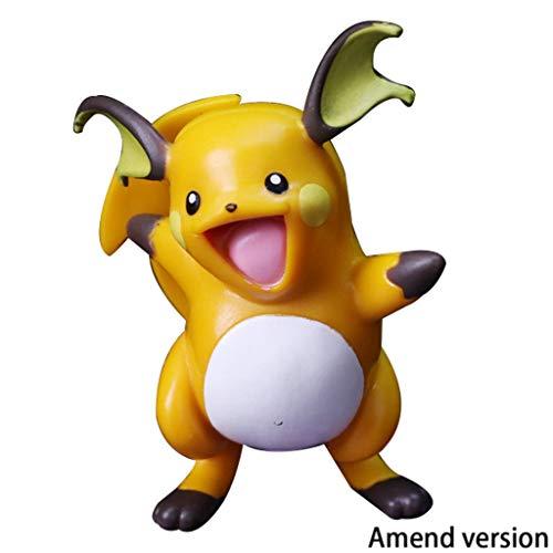 Lilongjiao Pokémon: Raichu Nendoroid Figura De Acción PVC Figura Modelo Juguetes