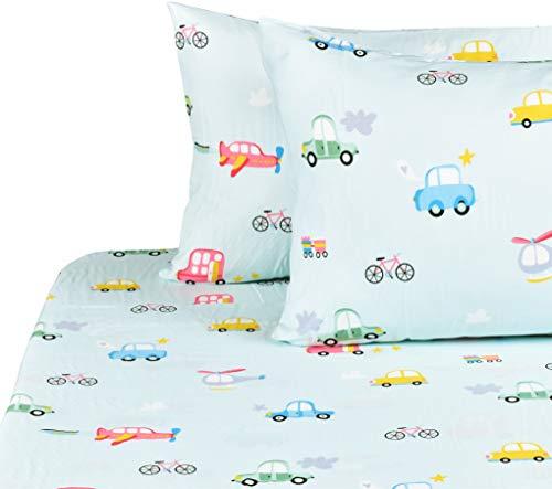 Soft Microfiber Fitted Sheet Deep Pocket JSD Cute Unicorn Kids Printed Sheet Set Full Warm Durable Wrinkle Free