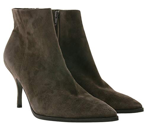 Kennel & Schmenger Camille Echtleder Stiefel edle Damen Absatz-Boots Schuhe Booties Taupe, Größe:41