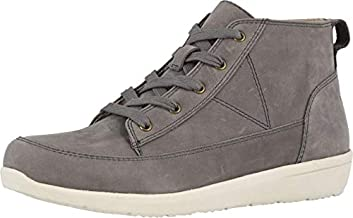 Vionic Women's Magnolia Shawna High Top Booties - Supportive Chukka Walking Shoes That Include Three-Zone Comfort with Orthotic Insole Arch Support Slate Grey Nubuck 8 Medium US