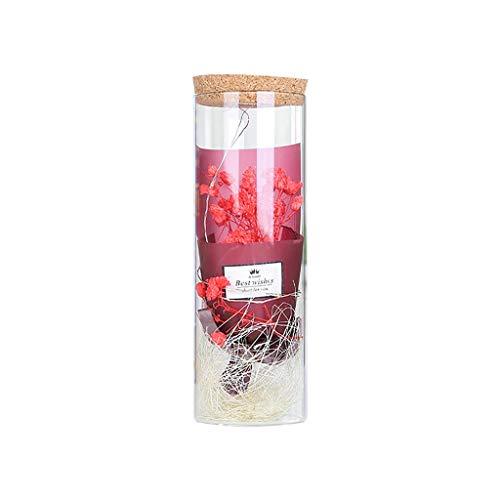 Zegeey KüNstliche Getrocknete Blumenstrauß Mit Sparkle LED Streifen Licht Hochzeit Dekorations Werbegeschenk Geschenk FüR Valentinstag Muttertag Geburtstag Jahrestag Wedding