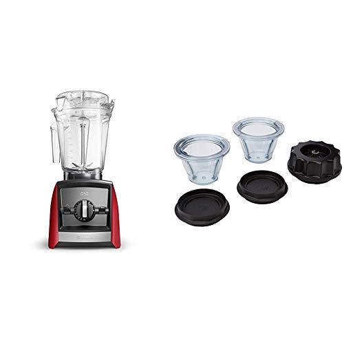 Batidora Vitamix Ascent A2500i Roja + Pack 2 vasos Ascent 225ml con base de cuchillas