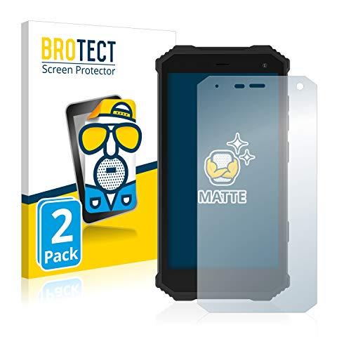 BROTECT 2X Entspiegelungs-Schutzfolie kompatibel mit Archos Saphir 50X Bildschirmschutz-Folie Matt, Anti-Reflex, Anti-Fingerprint