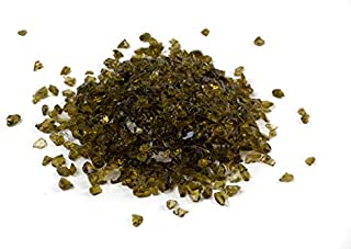 gold crushed glass