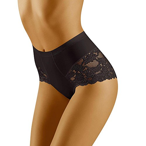 Wolbar Damen Slip WB184, Schwarz,Medium