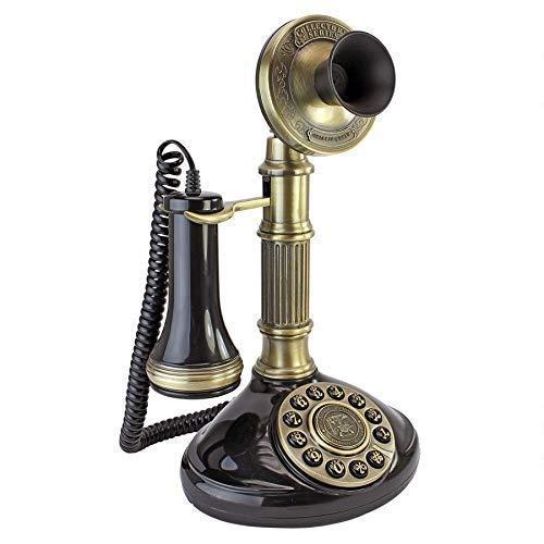 XYSQWZ TeléFono Antiguo - Columna Romana 1897 TeléFono Giratorio con Candelabro - TeléFono Retro con Cable - TeléFonos Decorativos Vintage