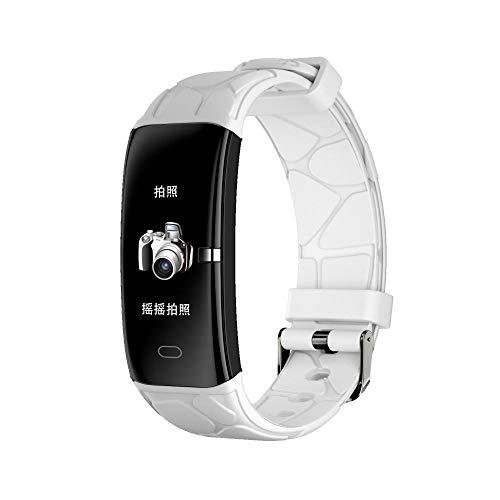 Yumanluo Reloj Inteligente Mujer Hombre,Reloj Inteligente de monitoreo de Salud, Pulsera de Pasos de Ejercicio-Blanco,Pulsera de Actividad Inteligente Reloj Deportivo