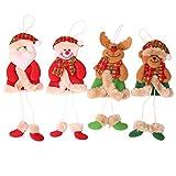 ZHongWei - Corona de Navidad Decoraciones navideñas, Colgantes de árboles de Navidad, Accesorios de Vestir de Viejos muñecos de muñeco de Nieve (4 Paquetes) Arboles de Navidad