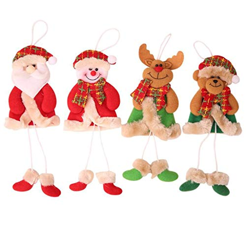 GYH Décorations De Noël, Pendentifs De Sapin De Noël, Old Man Snowman Scene Dress Up Accessoires (4 Packs) /&