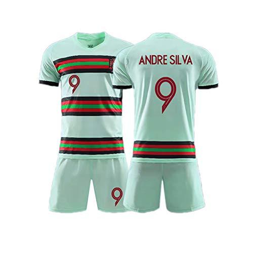 YANDDN 20-21 Portugal Nationalmannschaft Trikot Nr. 7 Trikot Auswärtstrikot, anpassbare Trikots, Geschenke für Kinder-cyan9-22