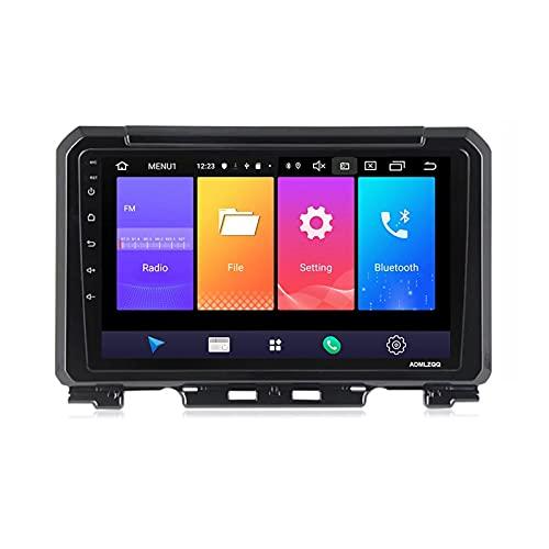 ADMLZQQ para Suzuki Jimny 2018-2020 Double DIN 9 Pulgadas Android 10.0 Car Radio Stereo MP5 Player, Controles del Volante/GPS/FM/RDS/Bluetooth/Cámara Trasera/Mirror Link,8core,4G+WiFi: 4+64G