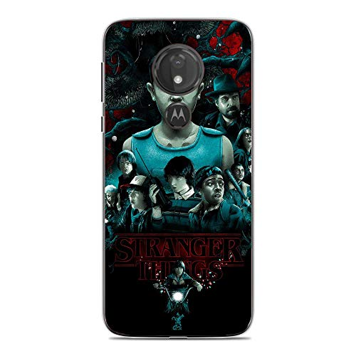 A-Legend Ultra Thin Coque Lightweight Anti-Skid Clear Soft Flexible Gel TPU Case Cover For Moto G7 Play-Stranger-Things Eleven Joyce 8