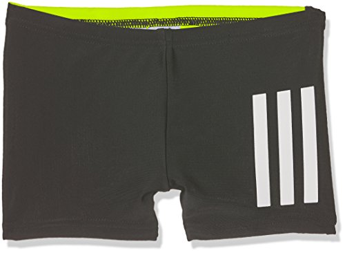 adidas Jungen Back-to-School 3-Streifen Boxer-Badeshorts, Black/Sesoye/White, 128