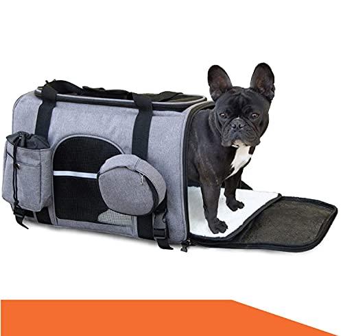 Bualma - Borsa per cani [animali domestici fino a 10 kg], con tracolla, per cani di piccola taglia e gatti, animata per auto/treno/aereo, borsa per il trasporto di cani