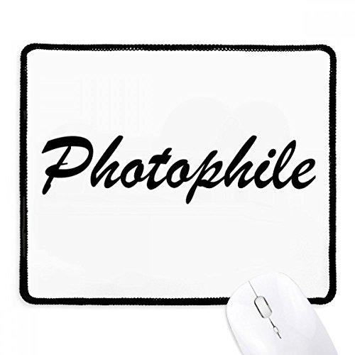 DIYthinker stijlvolle woord fotofiele anti-slip muismat spel office zwart Titched Edges gift