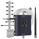 Proutone Repetidor de Señal 4G LTE Banda 20 Banda 7 para Rurales Urbanas Casa Oficina Amplificador de Cobertura Móvil de 800MHz 2600MHz - Admite Todos los Teléfonos Móviles