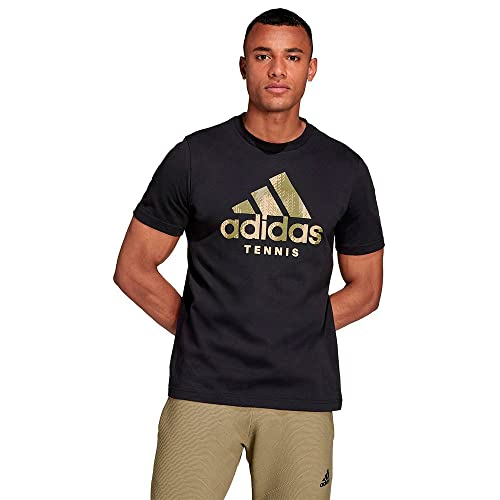 adidas Cat Camo tee Camiseta de Tenis, Negro, Medium para Hombre