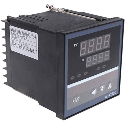 Heritan Controlador de Temperatura PID REX-C900 Entrada Universal Entrada MúLtiple Salida de Relé SSR 96X96Mm Termostato Regular
