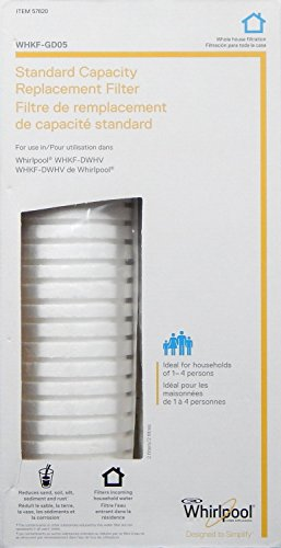 WHIRLPOOL Standard Capacity Whole House Filtration Replacement Filter - Key Features