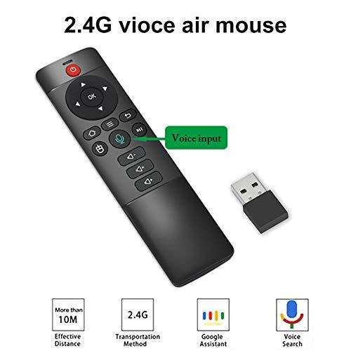 Telecomando Vocale Universale Telecomando Con Microfono Wireless Flying Mouse Giroscopio A 6 Assi Per Smart TV Android TV Box Mini Computer
