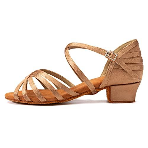 AOQUNFS Zapatos de Baile Latino Mujer Salsa Niña Bachata Salon Económicos Zapatos...