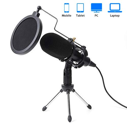 Tdbest USB Microphone Kit microphone for laptop/pc 3.5mm Streaming Podcast...